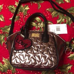 BETSEY JOHNSON Adorable pewter mini satchel 🌺